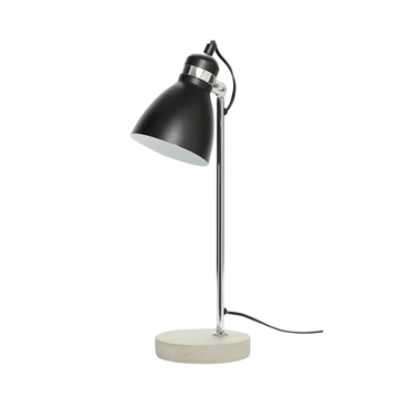 Bordlampe i metal og beton